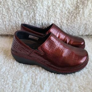 Timberland Professional Glossy Red Embossed Shoes